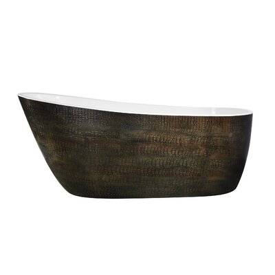 Bouie Series 68.11 x 27.95 Freestanding Soaking Bathtub