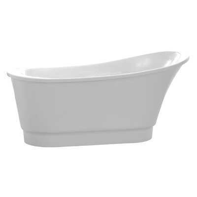 Prima Series 67 x 31 Freestanding Soaking Bathtub Color: White