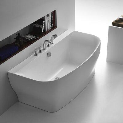 Bank Series 64.9 x 30.7 Freestanding Soaking Bathtub
