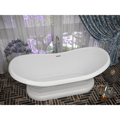 Ruby Series 70.75 x 32.75 Freestanding Soaking Bathtub