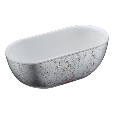 Knight Series 72.05 x 34.06 Freestanding Soaking Bathtub
