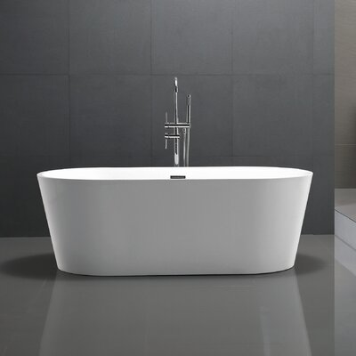 Chand Series 67 x 23 Freestanding Soaking Bathtub