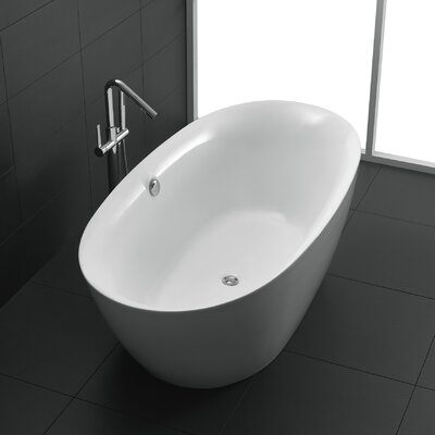 Adze Series 70.8 x 35.4 Freestanding Soaking Bathtub
