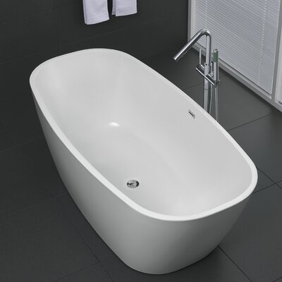 Bridge Series 67 x 30.7 Freestanding Soaking Bathtub