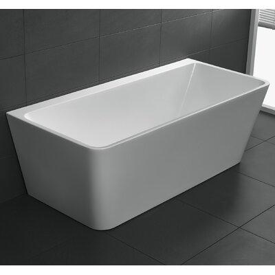 Strait Series 67 x 30.7 Freestanding Soaking Bathtub