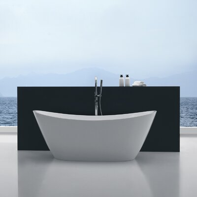 Cross Series 67 x 26.7 Freestanding Soaking Bathtub