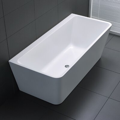 Strait Series 67 x 30.7 Freestanding Soaking Bathtub