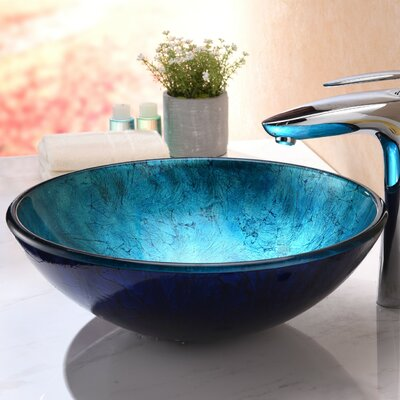 Arc Glass Circular Vessel Bathroom Sink