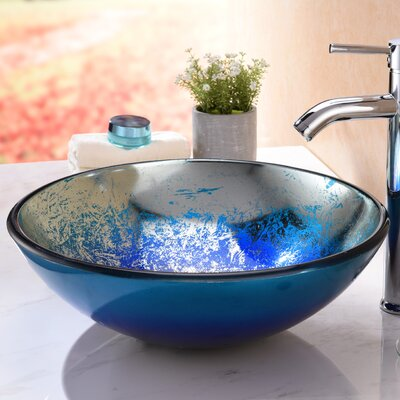 Oceana Series Circular Vessel Bathroom Sink