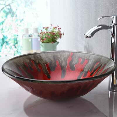 Chrona Glass Circular Vessel Bathroom Sink