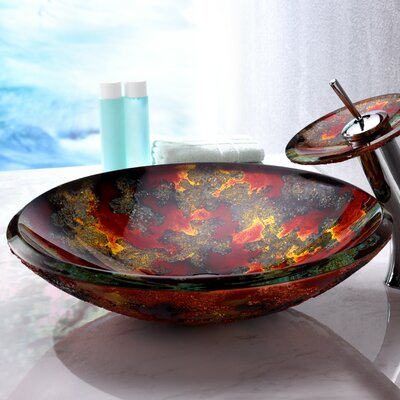 Chrona Series Circular Vessel Bathroom Sink