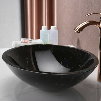 Marbela Series Oval Vessel Bathroom Sink Sink Finish: Black