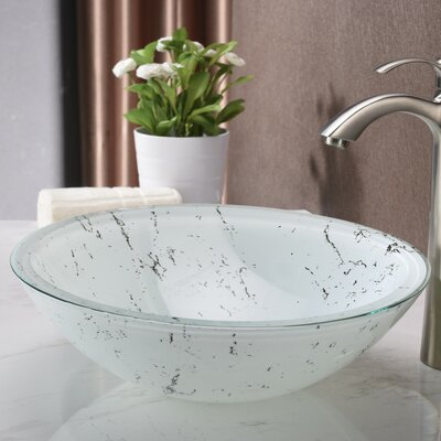 Marbela Series Oval Vessel Bathroom Sink Sink Finish: White