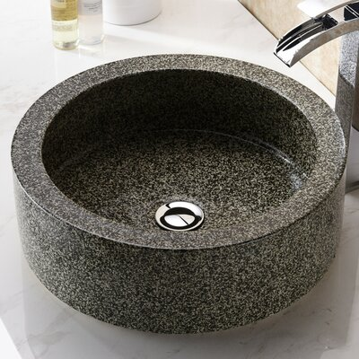 Black Desert Crown Circular Vessel Bathroom Sink