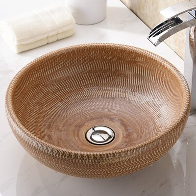 Earthen Series Circular Vessel Bathroom Sink