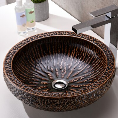 Regalia Glass Circular Vessel Bathroom Sink