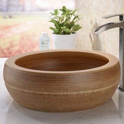 Regalia Series Circular Vessel Bathroom Sink