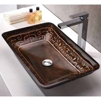 Alto Glass Rectangular Vessel Bathroom Sink