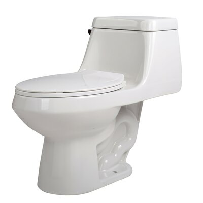 Zeus 1.28 GPF Elongated One-Piece Toilet