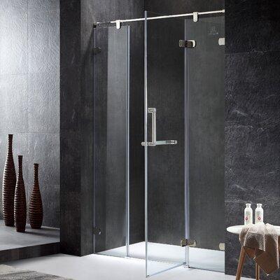 "Emperor Series Semi-frameless 55.11"" X 1"" X 78.74"" Rectangle Hinged Shower Door"