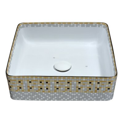 Byzantian Vitreous China Square Vessel Bathroom Sink