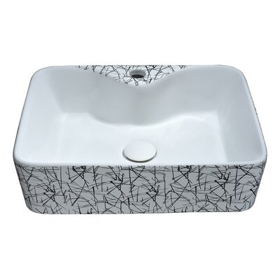 Belgian Stitch Series Ceramic Square Vessel Bathroom Sink