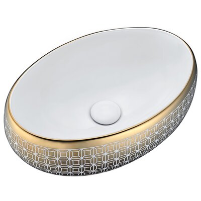 Sona Series Ceramic Oval Vessel Bathroom Sink