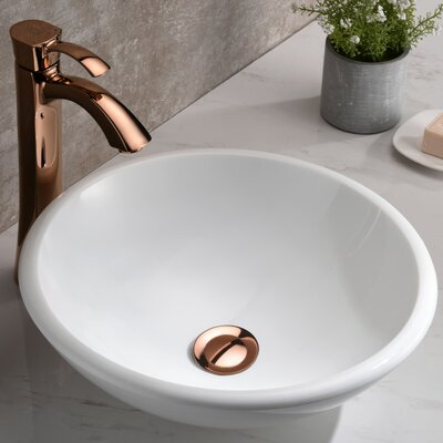 Egret Series Glass Circular Vessel Bathroom Sink