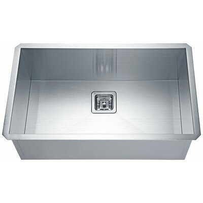 Vanguard Stainless Steel 31 x 17 Undermount  Kitchen Sink with Drain Assembly