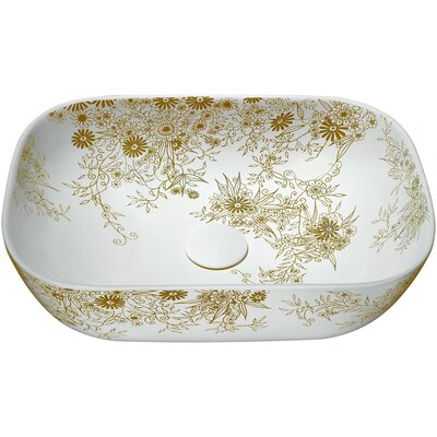 Breeze Basin Series Ceramic Oval Vessel Bathroom Sink