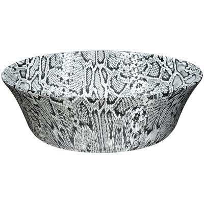 Diamond Back Crown Series Ceramic Circular Vessel Bathroom Sink