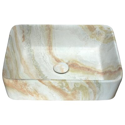 Marbled Series Ceramic Rectangular Vessel Bathroom Sink Sink Finish: Earth