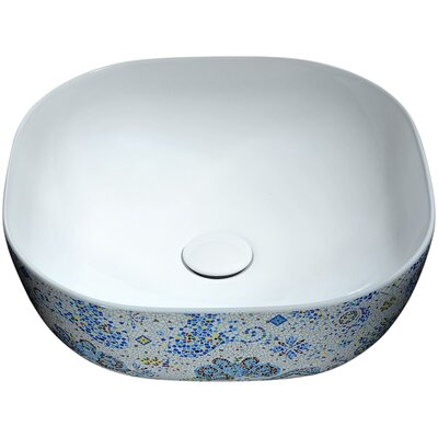 Byzantian Series Ceramic Circular Vessel Bathroom Sink