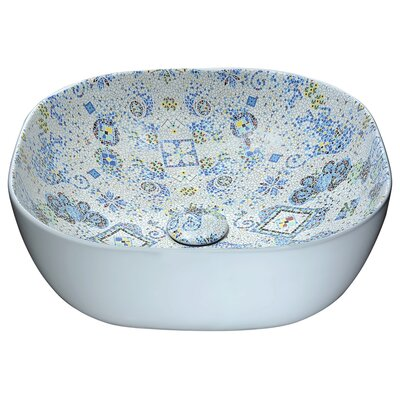 Byzantian Vitreous China Circular Vessel Bathroom Sink