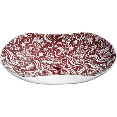 Fleur Ecarlate Ceramic Specialty Vessel Bathroom Sink