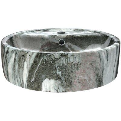 Rhapsody Series Ceramic Circular Vessel Bathroom Sink Sink Finish: Gray/White