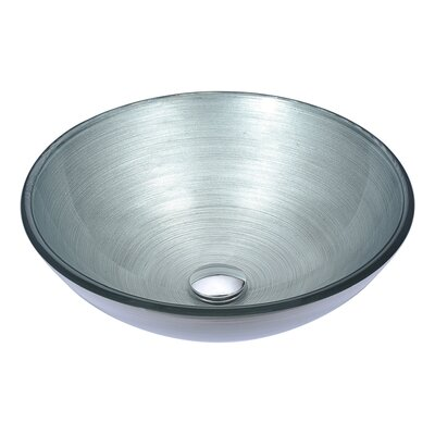 Posh Circular Vessel Bathroom Sink Sink Finish: Silver
