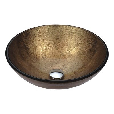 Posh Glass Circular Vessel Bathroom Sink Sink Finish: Celestial Earth