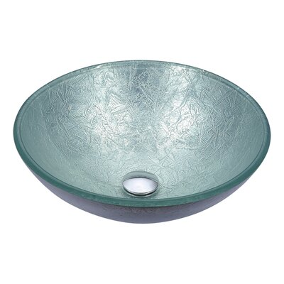 Posh Circular Vessel Bathroom Sink Sink Finish: Glacial Silver