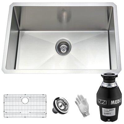 Vanguard Stainless Steel 23 x 18 Undermount Kitchen Sink Garbage Disposal: 1/3 HP