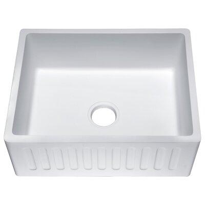 Roine Single Bowl 9 x 18 Farmhouse Kitchen Sink Finish: Matte White