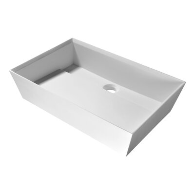 Entelea Rectangular Vessel Bathroom Sink