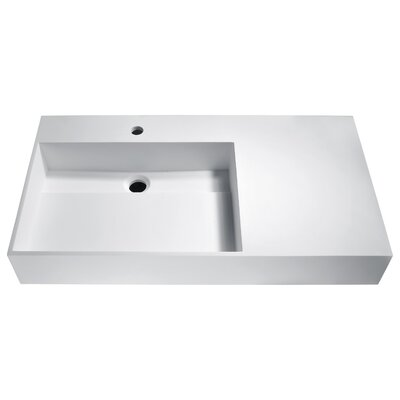 Urena Rectangular Vessel Bathroom Sink