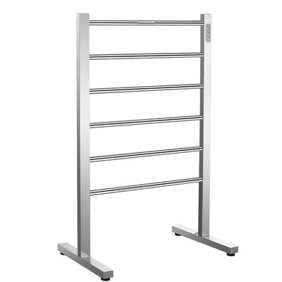 Kiln 6-Bar Floor Mount Electric Towel Warmer Finish: Brushed Nickel