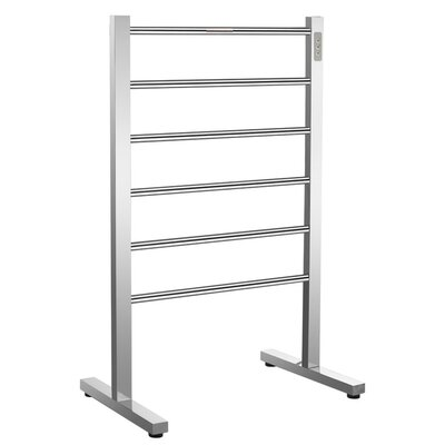 Kiln 6-Bar Floor Mount Electric Towel Warmer Finish: Polished Chrome