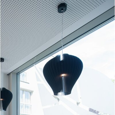 Lamella Fargola 1-Light Mini Pendant Shade Color: Black