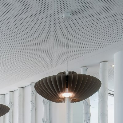 Lamella Pesca 1-Light Pendant Shade Color: Black
