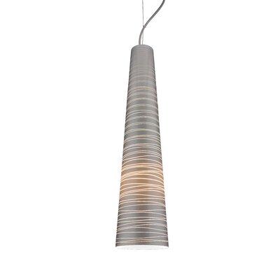 Nina XL 1-Light Mini Pendant Shade Color: Silver