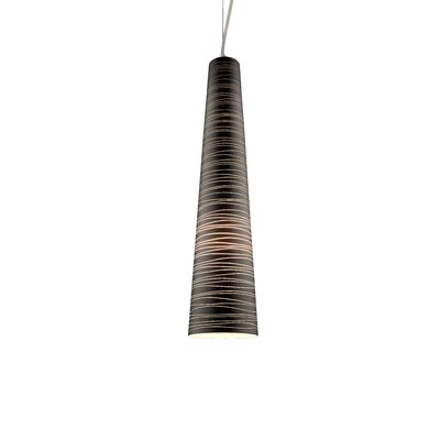 Nina XL 1-Light Mini Pendant Shade Color: Black