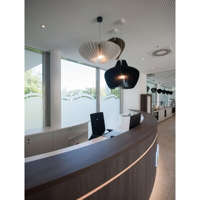 Lamella Mela 1-Light Geomitric Pendant Shade Color: Black
